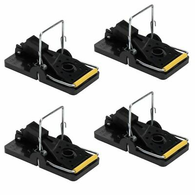 4 x Spring Mouse Traps Rat Rodent Catcher Killer Plastic Easy Bait Cheese Catch