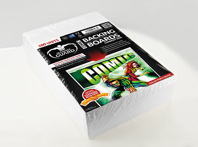 100 COMIC BACKING BOARDS (backboards) acid free taille Current Size 171 x 266 mm