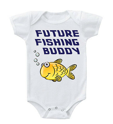 Future Fishing Buddy Infant Toddler Baby Cotton Bodysuit One Piece