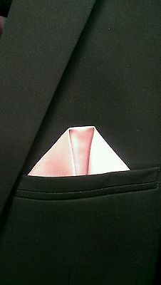 UK* Men Boys Toddler Suit Jacket Rose Blush Pink handkerchief pocket square