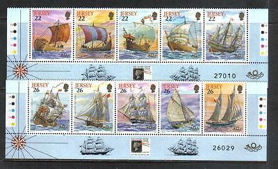 Jersey 2000 Maritime Heritage--Attractive Ship Topical (941-50) MNH