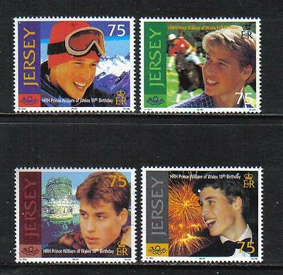 Jersey 2000 Prince William 18th Birthday--Attractive Topical (958-61) MNH
