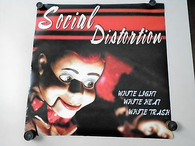 "Social Distortion Promo Poster / Exc. New condition / 24 x 24"" White Light,"