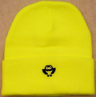 FLUORESCENT LIME GREEN/YELLOW SAFETY Knit Watch Cap traffic/crossing guard