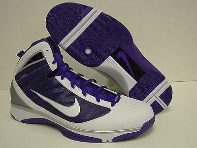 the latest 34e05 2445a NEW Mens NIKE Hyperize TB 367181 118 White Purple Basketball Sneakers Shoes