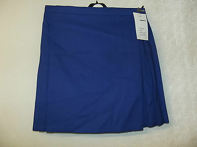NEW GIRLS EX JOHN LEWIS BLUE or RED PLEATED SCHOOL GAMES SKIRT 22-36 Waist