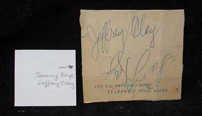 Sammy Kaye Jeffrey Clay Autograph on Cigarette Pack