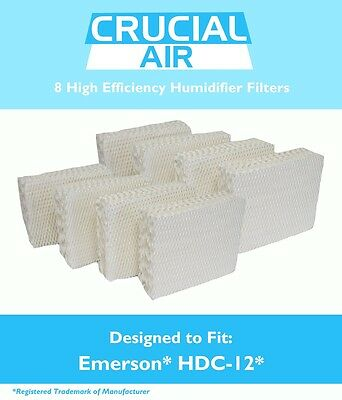8PK Humidifier Wick Filters Fit Kenmore & Emerson, Part # HDC-12 & 14911