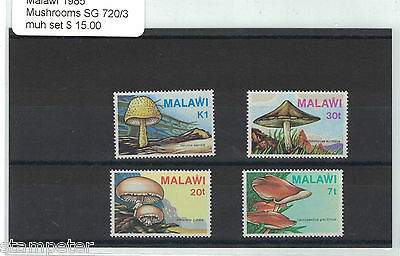 1985 Malawi Mushrooms SG 720/3 MUH Set of 4