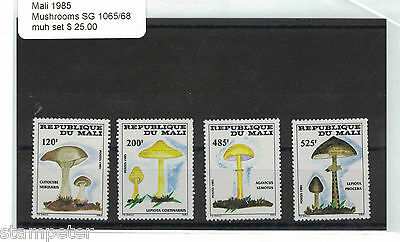 1985 Mali Mushrooms SG 1065/68 MUH Set of 4