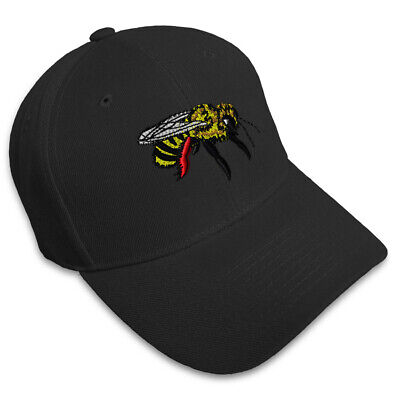 ffe973258e3b1 BUMBLE BEE EMBROIDERED Dad Hat Cotton Baseball Cap Adjustable ...
