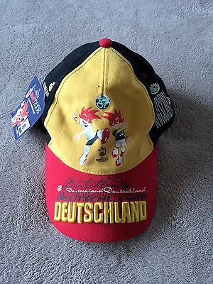 New Detuschland Germany Soccer Uefa Euro 2008 Austria Switzerland Cap Hat One Sz