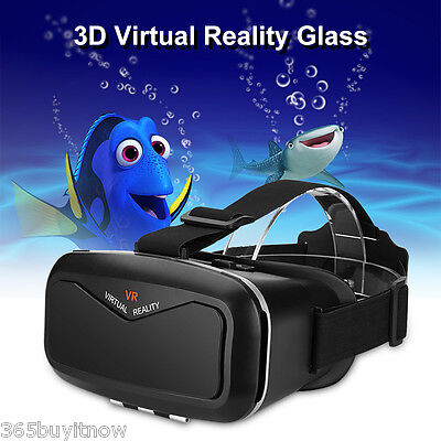 3D Virtual Reality Glasses VR Box Adjustable Headset for 3.5''~6.0'' Smartphone