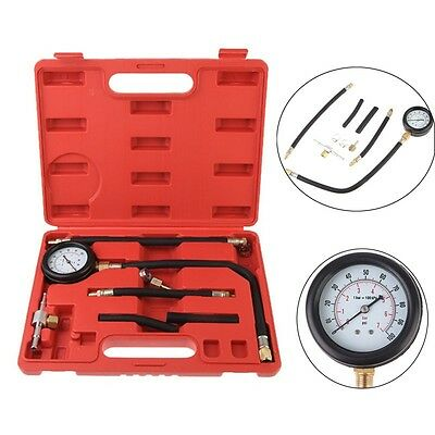 Car Auto Petrol Diesel Fuel Injection Pump Pressure Tester Meter Gauge w/ Case
