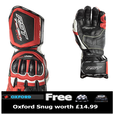 RST Tractech Evo 2579 CE Approved Sport Race Gloves Red FREE SNUG INCLUDED