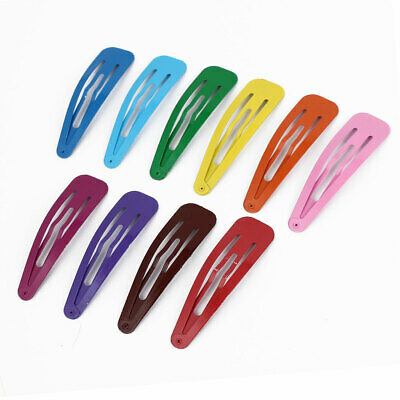 Lady Metal Bow Snap Hair Clips Hairpins Barrette Decor Assorted Color 10 Pcs