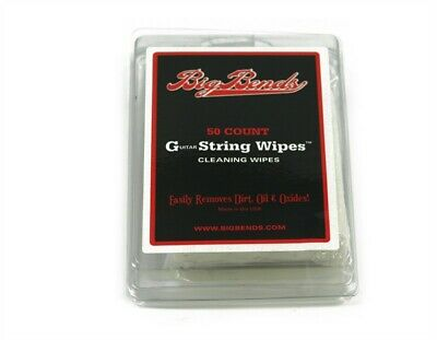 NEW - Big Bends Guitar String Wipes (50)
