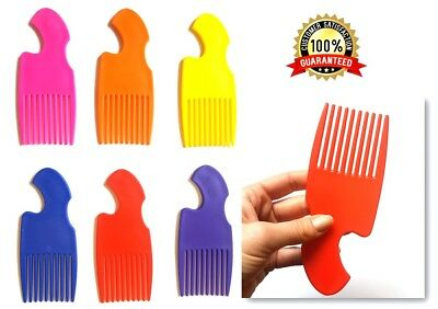 Wide Tooth Hair Comb Detangling Curved Handle Gentle on the Scalp Wavy Afro Comb