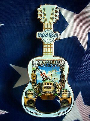 HRC Hard Rock Cafe Hamburg Bottle Opener Magnet City Tee V11