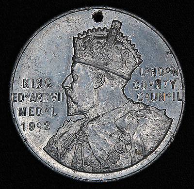 King Edward VII Medal-London County Council-Punctual Attendance 1908-9 to Arnold