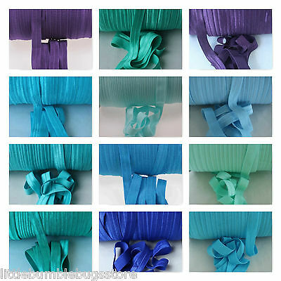 Foe Fold Over Elastic - Solid Colours By The Metre - Purple & Blues