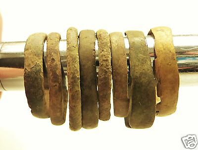 Set of 8 medieval bronze rings (#539)  .