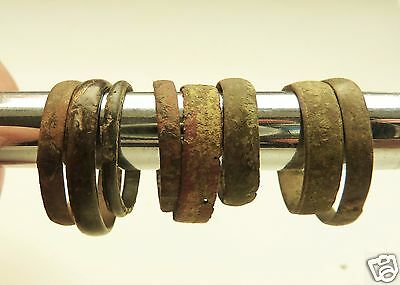 Set of 8 medieval bronze rings (#538)  .