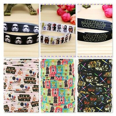 Foe 5/8 Fold Over Elastic By The Metre - Star Wars
