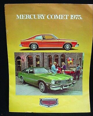 Vintage Advertising Color Brochure MERCURY COMET 1975 Mercury Comet GT Ford