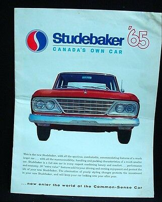 Vintage Advertising Car Brochure STUDEBAKER 1965 Cruiser Daytona Sport Wagonaire