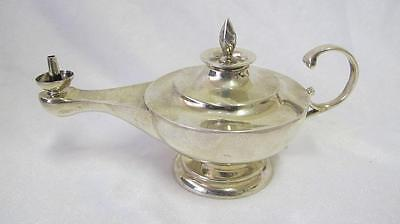 Rare Antique Solid Sterling Silver Table Lighter Aladdin's Lamp Birmingham 1923