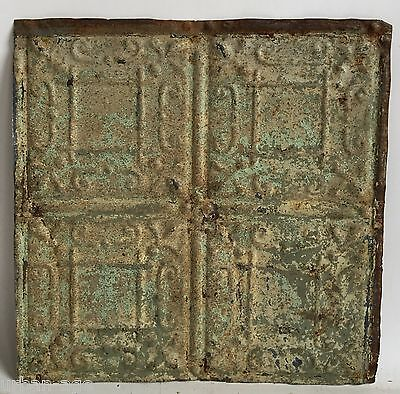 "12"" x 12"" Antique Tin Ceiling Tile *SEE OUR SALVAGE VIDEOS* Tan B58a Metal"