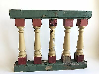 Antique 1890's Wood Victorian Baluster Shabby Porch Banister Spandrel Curved