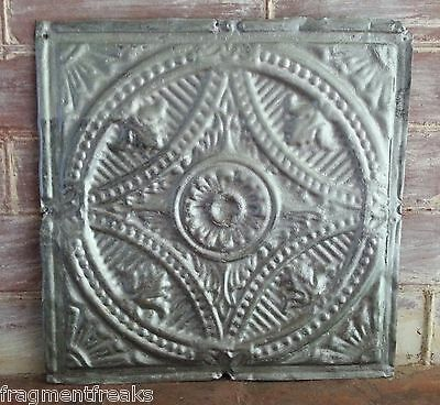 "12"" x 12"" Antique Tin Ceiling Tile Silver LA1 Metal *SEE OUR SALVAGE VIDEOS*"