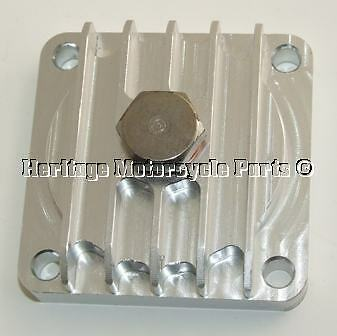 English CNC finned solid billet ALLOY SUMP PLATE + 2 gaskets BSA A7 A10 A50 A65