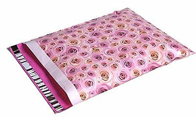 25 14x17 Pale Pink Roses Designer Mailers Poly Shipping Envelopes  Bags