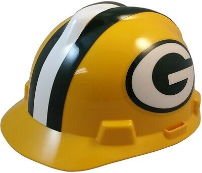 4bb9f206b NFL Green Bay Packers Hard Hat - MSA Team Hardhat with Pin Lock Suspension