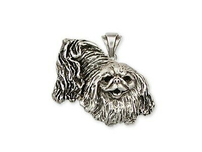 Pekingese Pendant Handmade Sterling Silver Dog Jewelry D65-P