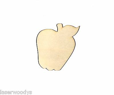 Apple Unfinished Wood Shape Cut Out A8218 Crafts Lindahl