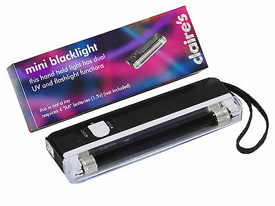 Portable Ultraviolet Black Light + Torch 4W Counterfeit  4 Free batteries Includ