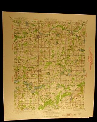Hartford Michigan 1955 vintage USGS Topographical chart map