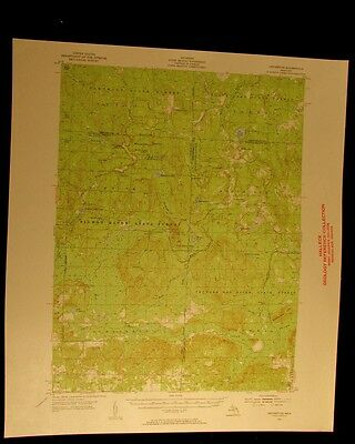 Hetherton Michigan 1956 vintage USGS Topographical chart map