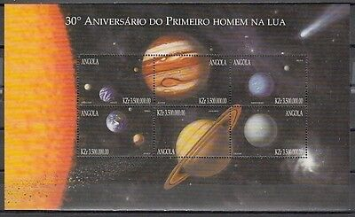 : Angola, Scott cat. 1109. Planets, Space sheet of 6.