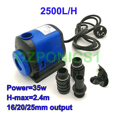 56W Submersible Water Pump 2500L/h For Hydroponics And Aquarium