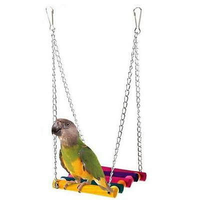 Funny Pets Parrot Parakeet Budgie Cockatiel Cage Hammock Hanging Swing Toys - LD