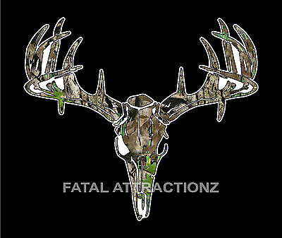 1a272b38caca0 Camo Deer Skull S4 Vinyl Sticker Decal hunting buck bow whitetail trophy