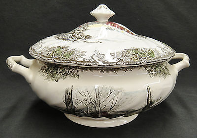 Johnson Bros Friendly Village Soup Tureen with Lid Sugar Maple Excellent