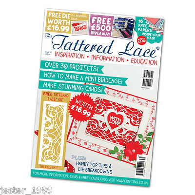Tattered Lace Magazine Issue 31 Stephanie Weightman + Free Delicate Gate Die