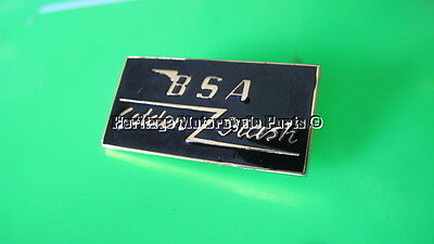 new english made BSA GOLDEN FLASH BLACK ENAMEL METAL LAPEL BADGE-superb quality