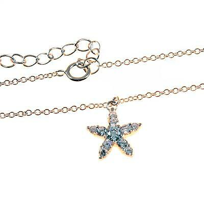 Sterling Silver Ankle Chain With CZ Star / Starfish - Anklet - 9 inch to 11 inch